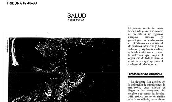 abstinencia heroina - Prensa en España