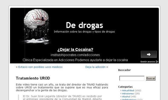 dedrogas - Artículos de prensa sobre Tavad y la adicción a las drogas en Internet