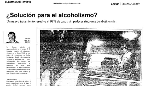 dejar el alcoholismo - Prensa en España