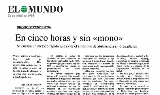 desintoxicacion drogas - Prensa en España