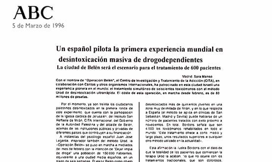 desintoxicacion drogodependientes masiva - Prensa en España