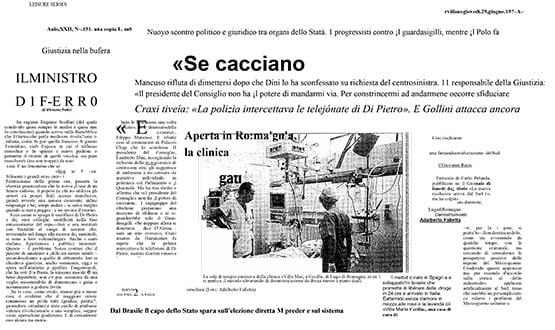 disintossicazione da droga - Prensa en Italia