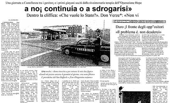 disintossicazione droga - Prensa en Italia