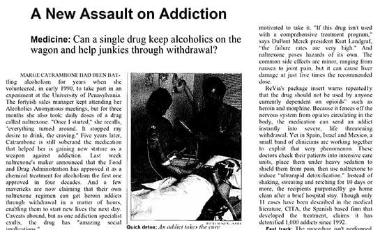 heroin detox treatment - Prensa en Varios Países