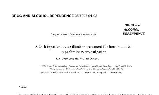 heroin detoxification treatment - Prensa en Inglaterra