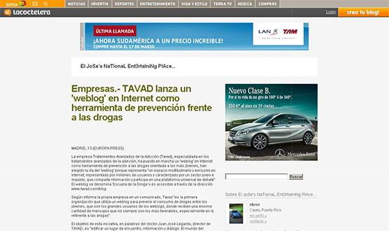 lacoctelera - Artículos de prensa sobre Tavad y la adicción a las drogas en Internet