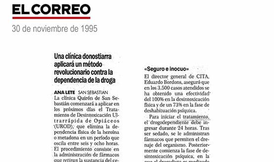 metodo desintoxicacion dejar las drogas - Prensa en España