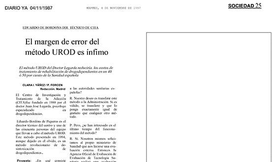 metodo urod desintoxicacion heroina - Prensa en España