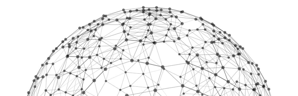 esfera con puntos interconectados