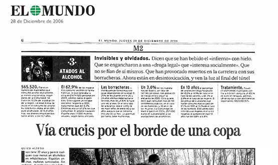 reportaje alcoholicos elmundo - Prensa en España