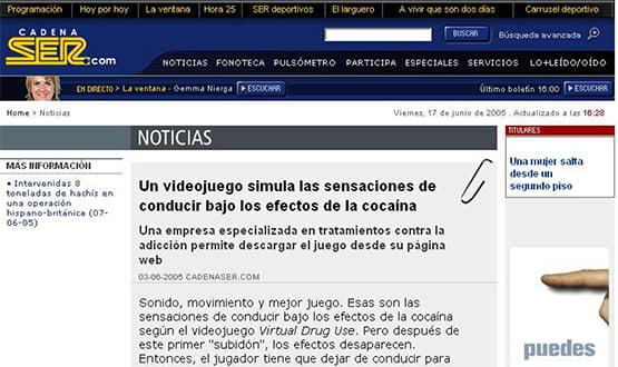 ser 170605 - Artículos de prensa sobre Tavad y la adicción a las drogas en Internet