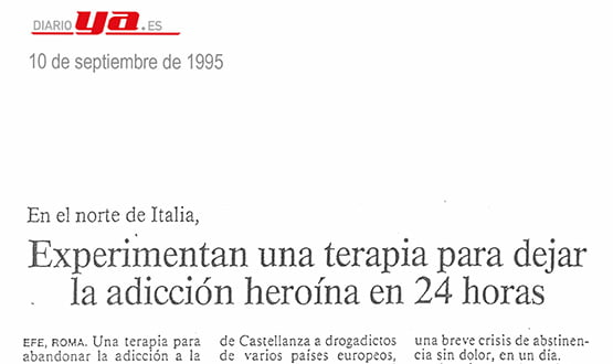 terapia contra adiccion heroina - Prensa en España