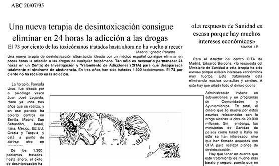 terapia desintoxicacion drogas - Prensa en España
