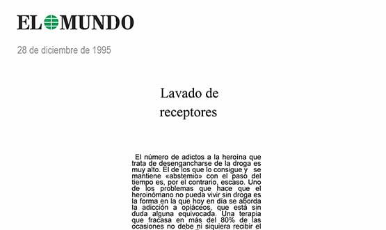 tratamiento abstinencia heroina - Prensa en España