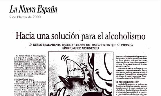 tratamiento alcoholismo - Prensa en España