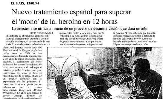 tratamiento dejar la heroina - Prensa en España