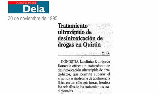 tratamiento desintoxicacion drogas - Prensa en España