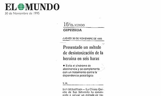 tratamiento desintoxicacion heroina - Prensa en España