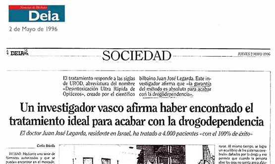 tratamiento drogodependencia - Prensa en España
