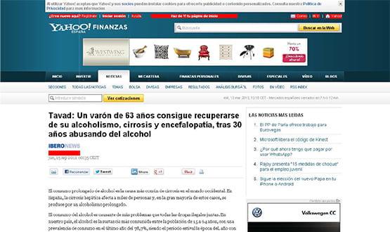 yahoo - Artículos de prensa sobre Tavad y la adicción a las drogas en Internet