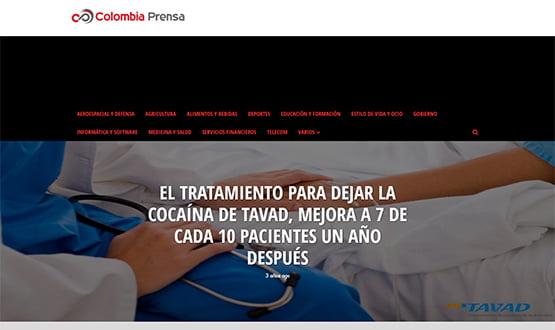 colombiaprensa17 - Artículos de prensa sobre Tavad y la adicción a las drogas en Internet