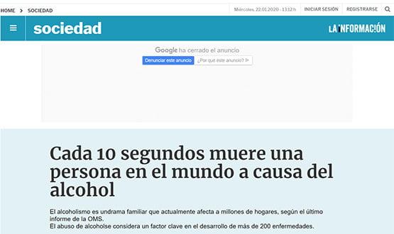 diariolainformacion15 - Artículos de prensa sobre Tavad y la adicción a las drogas en Internet