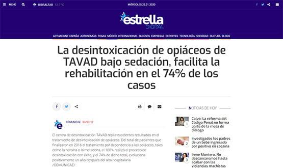 estrelladigital17 - Artículos de prensa sobre Tavad y la adicción a las drogas en Internet