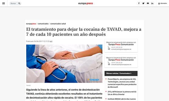 europapres2 17 - Artículos de prensa sobre Tavad y la adicción a las drogas en Internet