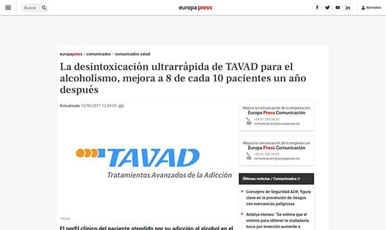 europapress17 - Artículos de prensa sobre Tavad y la adicción a las drogas en Internet