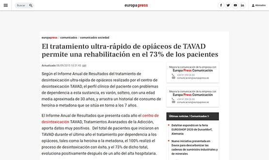 europapress2 15 - Artículos de prensa sobre Tavad y la adicción a las drogas en Internet