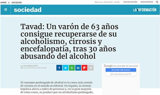 lainformacion16 - Artículos de prensa sobre Tavad y la adicción a las drogas en Internet