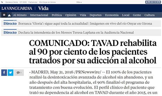 lavanguardia16 - Artículos de prensa sobre Tavad y la adicción a las drogas en Internet