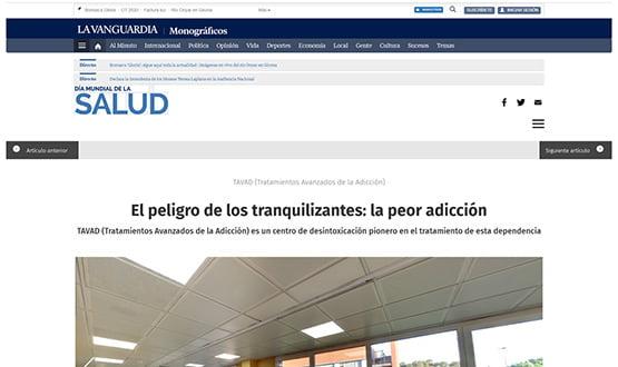 lavanguardia17 - Artículos de prensa sobre Tavad y la adicción a las drogas en Internet