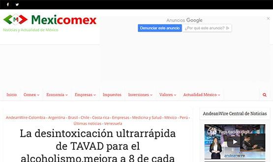 mexicomex17 - Artículos de prensa sobre Tavad y la adicción a las drogas en Internet