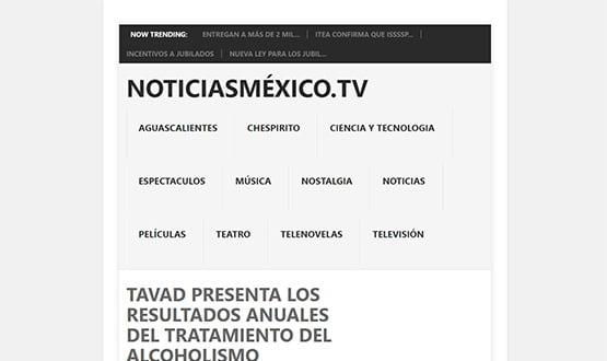 noticiasmexico15 - Artículos de prensa sobre Tavad y la adicción a las drogas en Internet