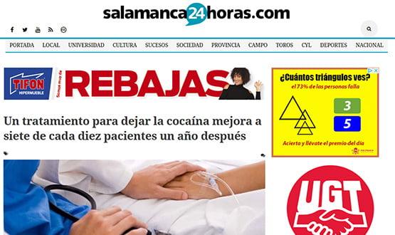 salamanca24h17 - Artículos de prensa sobre Tavad y la adicción a las drogas en Internet