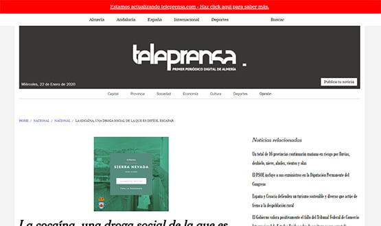 teleprensa19 - Artículos de prensa sobre Tavad y la adicción a las drogas en Internet