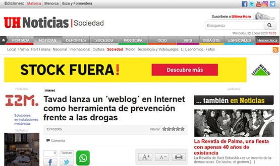 ultimahora05 - Artículos de prensa sobre Tavad y la adicción a las drogas en Internet