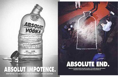Parodia de la campaña de una conocida marca de vodka