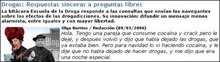 Artículo sobre 'Escuela de la Droga' en Canalsolidario.org