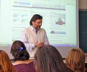 Alejandro Leiva, en un momento de su intervención