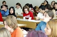 Imagen del aula, en la Facultad de Psicología