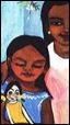 Retrato de una familia indígena en detalle