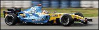 Fernando Alonso, campeón de Fórmula Uno. Su coche salió en Jerez con publicidad de Mild Seven