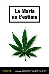 María no te quiere, cartel ganador del concurso FOSCAD 'Cannabis: una mirada crítica'