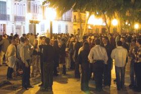 'Botellón' en la capital malagueña