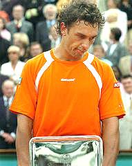Mariano Puerta, tras la final de Roland Garros