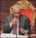 Marcello Pera, presidente del Senado en Italia